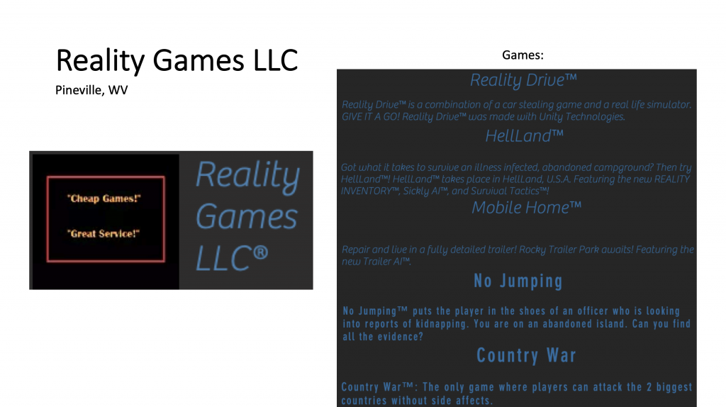 Reality Games LLC